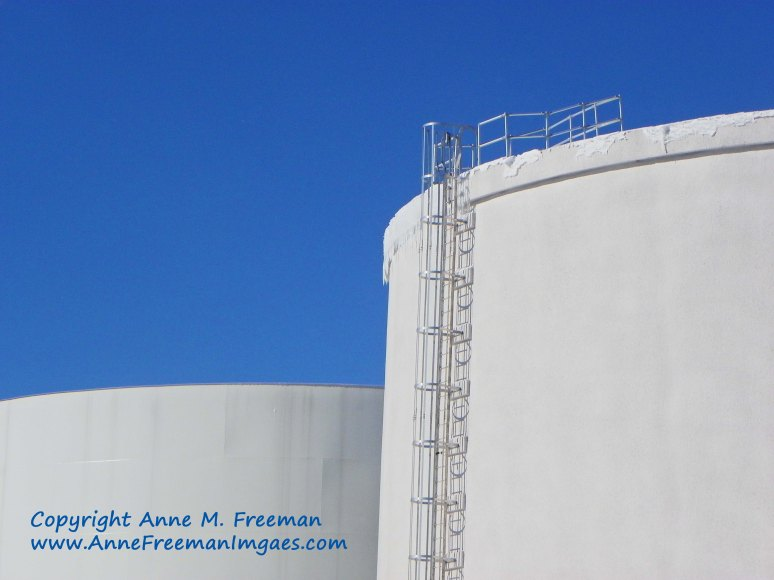 """Water Tanks in Winter"" Copyright Anne M. Freeman"